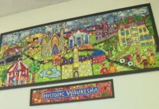 Kids build 'Historic Waukesha' mural at Carroll
