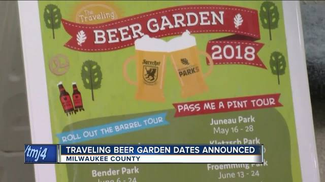 Traveling Beer Garden 2018 dates announced - TMJ4 Milwaukee, WI