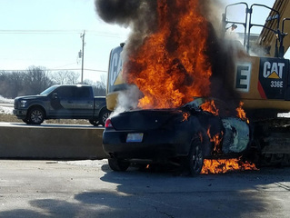 Fiery I-94 crash connected to Illinois murder