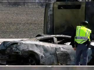Car burned in I-94 crash connect to IL death