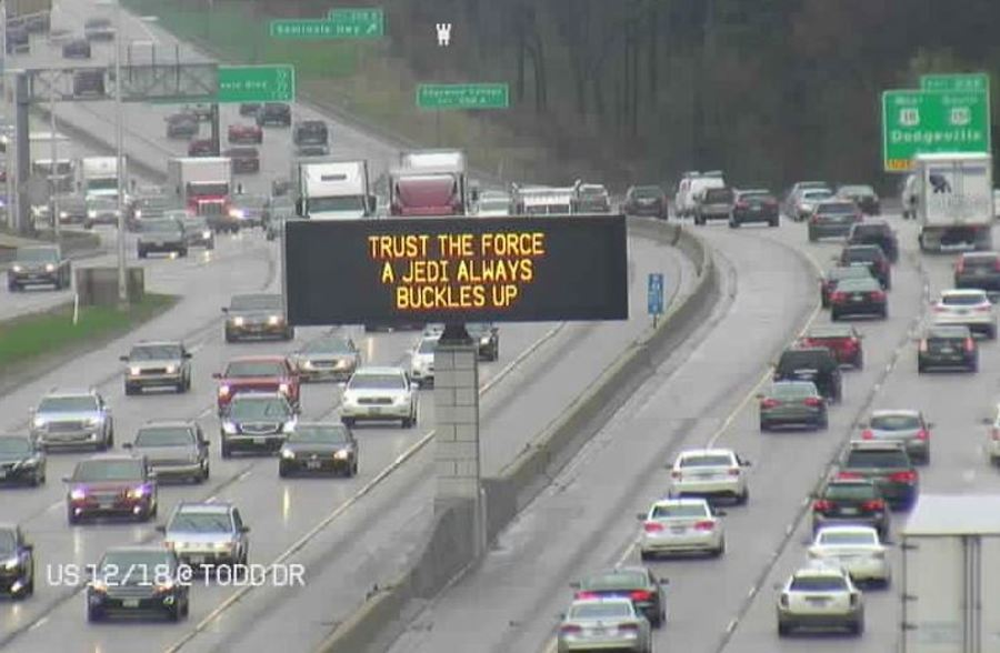 Wisconsin DOT Celebrates Star Wars Day With Funny Highway