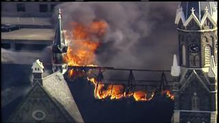 Historic downtown church burns down
