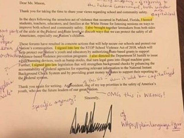 Georgia teacher gives trump a grammar lesson tmj4 milwaukee wi teacher grades a letter from the president thecheapjerseys Choice Image