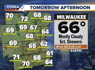 Scattered storms linger Monday night