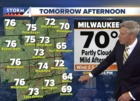 Partly cloudy and pleasant Wednesday