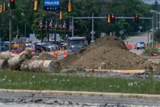Hales Corners roundabout construction underway