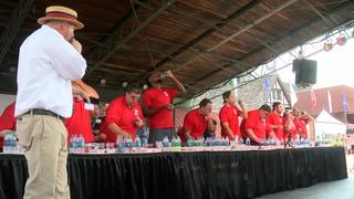 Cheese curd eating contest @ State Fair [PHOTOS]