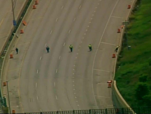 Shots fired on Milwaukee interstate, nobody hurt