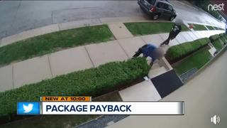Woman leaves smelly surprise for package thieves