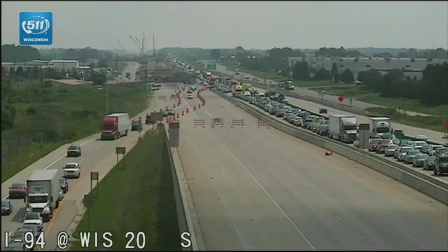 I-41/94 NB closed in Racine County due to crash