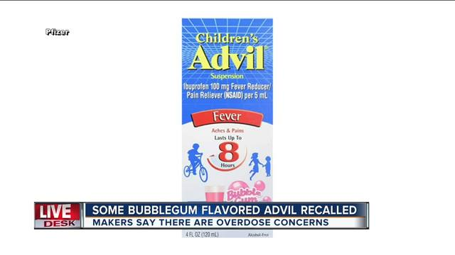 Childrens Advil Recalled Due To Dosage Mislabeling That Could Lead