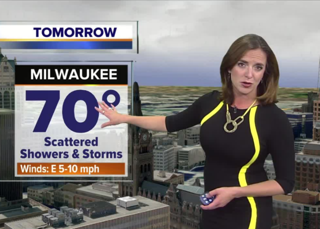 Spotty showers throughout the day Wednesday