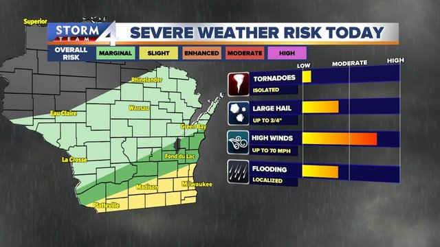 Severe T-storm WATCH issued for parts of SE Wis.