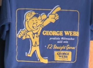 Brewers win everyone free George Webb burgers