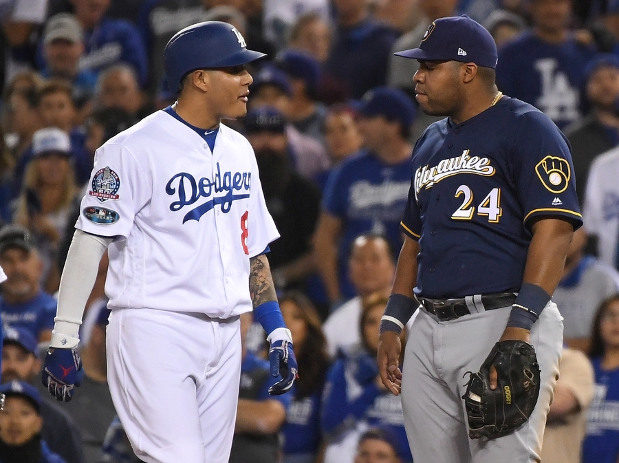 Christian Yelich calls Manny Machado a 'dirty player' after controversial play in Game 4