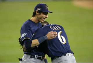Yelich wins MVP surrounded by family, teammates
