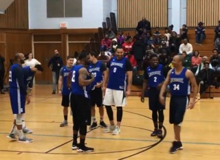 Officers play pick up game with church
